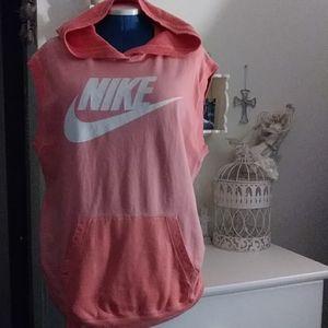 Nike women sleeve less hoody